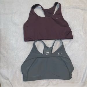 Nike sports bra x 2 size large